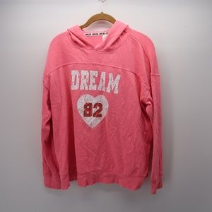 No Boundaries PINK Dream 82 Hoodie Pullover Jacket